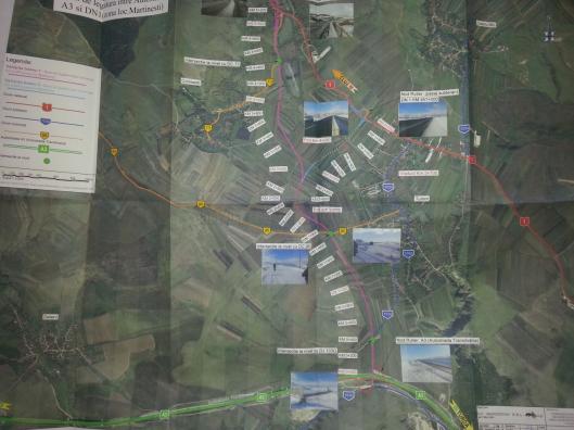 Legatura DN1-A3 in zona Tureni (II)