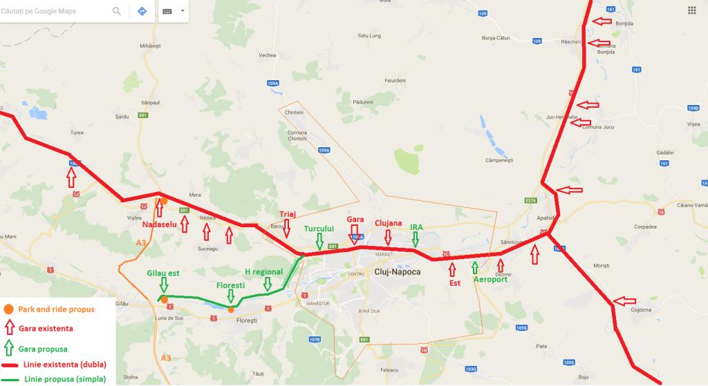 Tren metropolitan (suport Google maps)