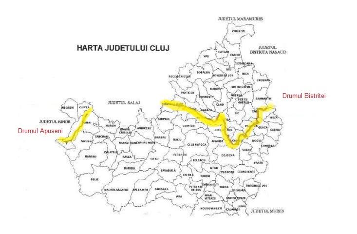 Judetul Cluj Harta